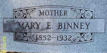 BINNEY, MARY E - Montgomery County, Kansas | MARY E BINNEY - Kansas Gravestone Photos