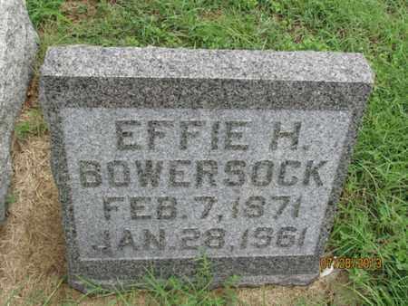 BOWERSOCK, EFFIE H - Montgomery County, Kansas | EFFIE H BOWERSOCK - Kansas Gravestone Photos