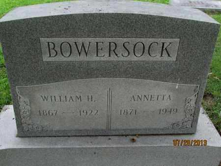BOWERSOCK, ANNETTA - Montgomery County, Kansas   ANNETTA BOWERSOCK - Kansas Gravestone Photos