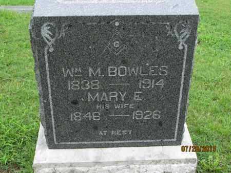 BOWLES, WILLIAM M - Montgomery County, Kansas   WILLIAM M BOWLES - Kansas Gravestone Photos