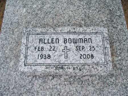 BOWMAN, ALLEN - Montgomery County, Kansas | ALLEN BOWMAN - Kansas Gravestone Photos