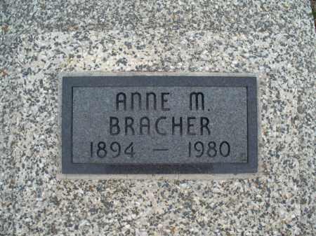 BRACHER, ANNE M - Montgomery County, Kansas | ANNE M BRACHER - Kansas Gravestone Photos