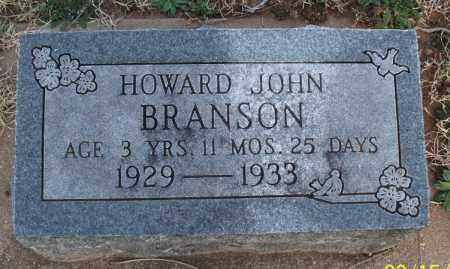 BRANSON, HOWARD JOHN - Montgomery County, Kansas | HOWARD JOHN BRANSON - Kansas Gravestone Photos