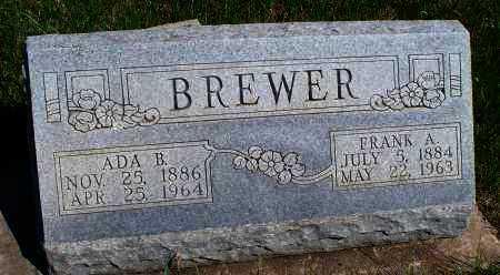 BREWER, FRANK A - Montgomery County, Kansas | FRANK A BREWER - Kansas Gravestone Photos