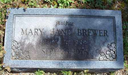 BREWER, MARY JANE - Montgomery County, Kansas   MARY JANE BREWER - Kansas Gravestone Photos