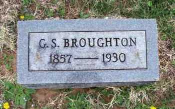 BROUGHTON, G. S. - Montgomery County, Kansas | G. S. BROUGHTON - Kansas Gravestone Photos