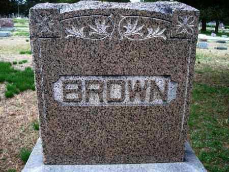 BROWN FAMILY STONE,  - Montgomery County, Kansas    BROWN FAMILY STONE - Kansas Gravestone Photos
