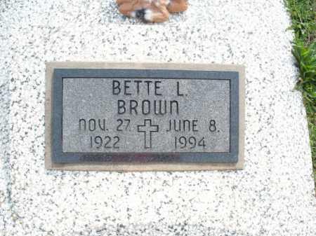 BROWN, BETTE L - Montgomery County, Kansas | BETTE L BROWN - Kansas Gravestone Photos