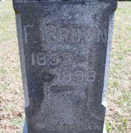 BROWN, F - Montgomery County, Kansas   F BROWN - Kansas Gravestone Photos