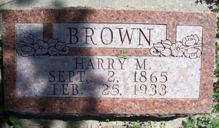 BROWN, HARRY M - Montgomery County, Kansas | HARRY M BROWN - Kansas Gravestone Photos