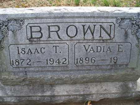BROWN, ISAAC T - Montgomery County, Kansas | ISAAC T BROWN - Kansas Gravestone Photos
