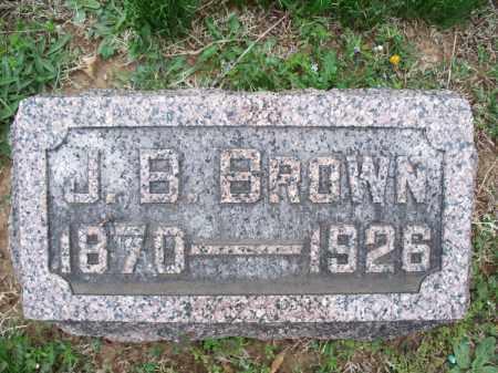 BROWN, J  B  - Montgomery County, Kansas | J  B  BROWN - Kansas Gravestone Photos