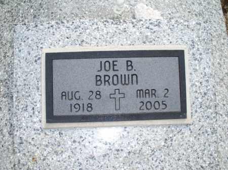 BROWN, JOE B - Montgomery County, Kansas | JOE B BROWN - Kansas Gravestone Photos