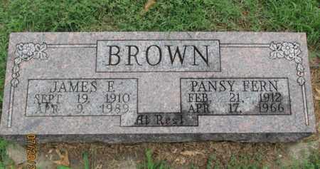 BROWN, JAMES F, SR - Montgomery County, Kansas | JAMES F, SR BROWN - Kansas Gravestone Photos