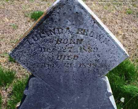 BROWN, LUCINDA - Montgomery County, Kansas   LUCINDA BROWN - Kansas Gravestone Photos