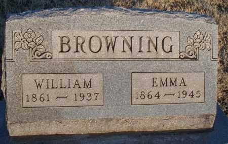 BROWNING, WILLIAM - Montgomery County, Kansas   WILLIAM BROWNING - Kansas Gravestone Photos