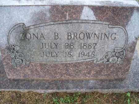 BROWNING, ZONA BELLE - Montgomery County, Kansas | ZONA BELLE BROWNING - Kansas Gravestone Photos