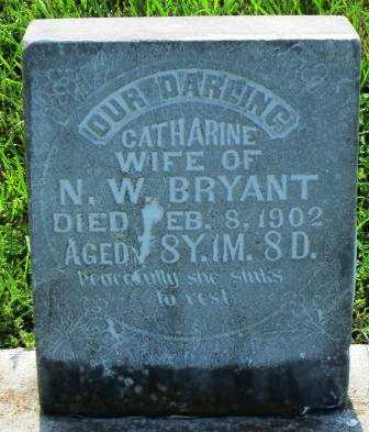BRYANT, CATHERINE - Montgomery County, Kansas   CATHERINE BRYANT - Kansas Gravestone Photos