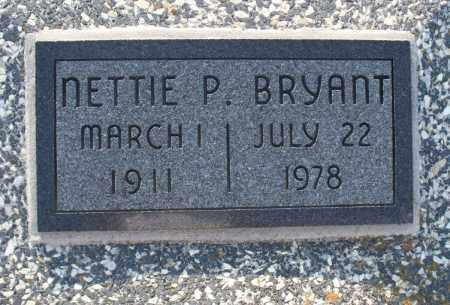 BRYANT, NETTIE P - Montgomery County, Kansas | NETTIE P BRYANT - Kansas Gravestone Photos