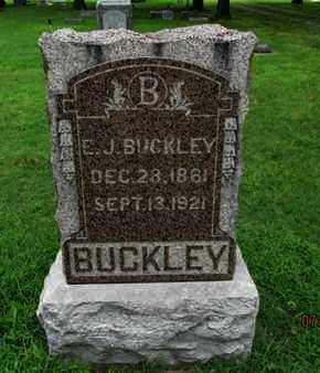 BUCKLEY, E J - Montgomery County, Kansas | E J BUCKLEY - Kansas Gravestone Photos