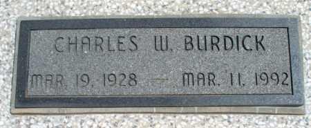 BURDICK, CHARLES W - Montgomery County, Kansas | CHARLES W BURDICK - Kansas Gravestone Photos