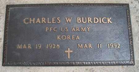 BURDICK, CHARLES W  (VETERAN KOR) - Montgomery County, Kansas | CHARLES W  (VETERAN KOR) BURDICK - Kansas Gravestone Photos
