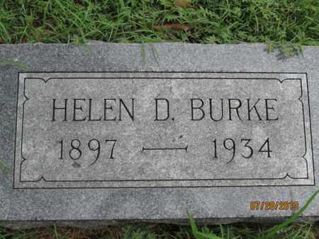 BURKE, HELEN D - Montgomery County, Kansas   HELEN D BURKE - Kansas Gravestone Photos