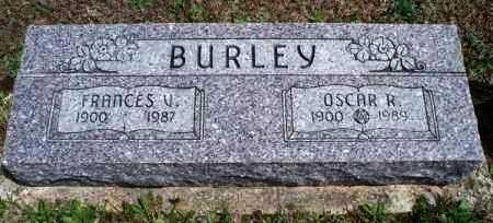 BURLEY, FRANCES V - Montgomery County, Kansas | FRANCES V BURLEY - Kansas Gravestone Photos