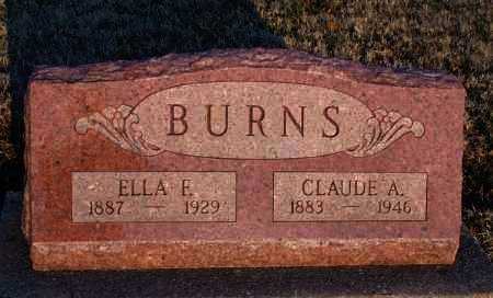 BURNS, CLAUDE A - Montgomery County, Kansas | CLAUDE A BURNS - Kansas Gravestone Photos
