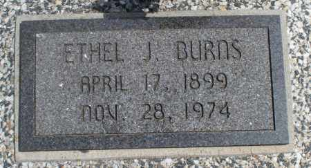 BURNS, ETHEL J - Montgomery County, Kansas | ETHEL J BURNS - Kansas Gravestone Photos