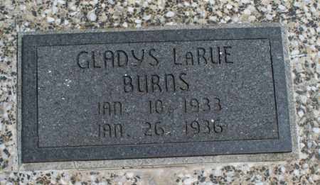 BURNS, GLADYS LARUE - Montgomery County, Kansas | GLADYS LARUE BURNS - Kansas Gravestone Photos