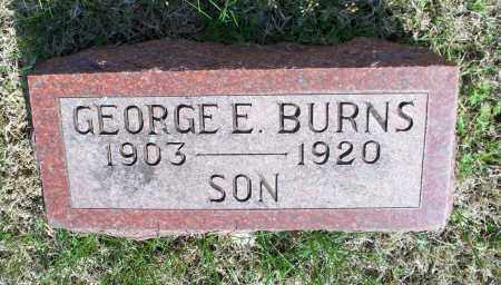 BURNS, GEORGE E - Montgomery County, Kansas | GEORGE E BURNS - Kansas Gravestone Photos