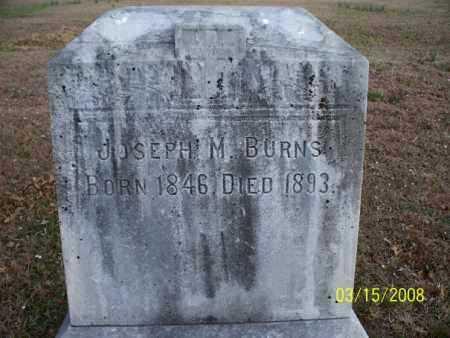 BURNS, JOSEPH M - Montgomery County, Kansas | JOSEPH M BURNS - Kansas Gravestone Photos