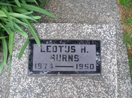 BURNS, LEOTUS H - Montgomery County, Kansas | LEOTUS H BURNS - Kansas Gravestone Photos