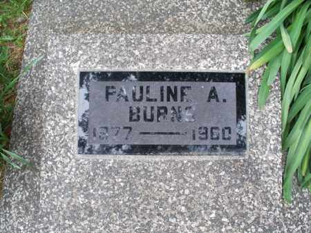 BURNS, PAULINE A - Montgomery County, Kansas | PAULINE A BURNS - Kansas Gravestone Photos