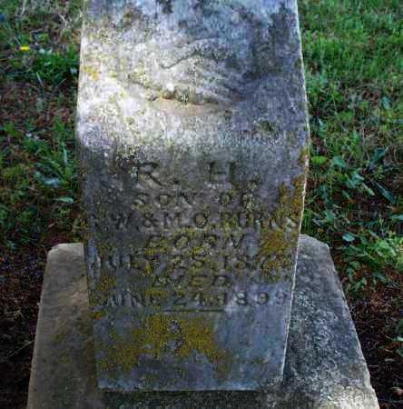 BURNS, R  H  - Montgomery County, Kansas   R  H  BURNS - Kansas Gravestone Photos