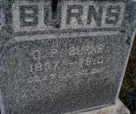 BURNS, C P   (VETERAN UNION) - Montgomery County, Kansas | C P   (VETERAN UNION) BURNS - Kansas Gravestone Photos