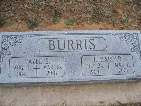 BURRIS, HAZEL S - Montgomery County, Kansas | HAZEL S BURRIS - Kansas Gravestone Photos
