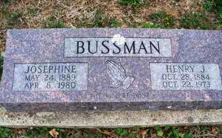 BUSSMAN, HENRY J. - Montgomery County, Kansas | HENRY J. BUSSMAN - Kansas Gravestone Photos