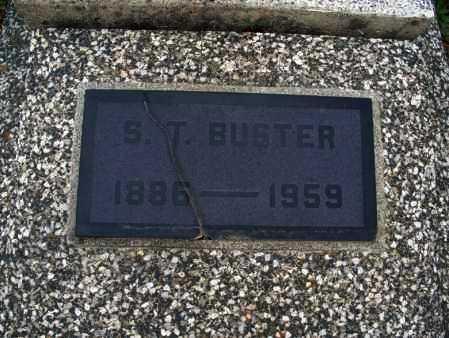 BUSTER, S  T  - Montgomery County, Kansas | S  T  BUSTER - Kansas Gravestone Photos