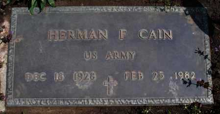 CAIN, HERMAN F  (VETERAN) - Montgomery County, Kansas | HERMAN F  (VETERAN) CAIN - Kansas Gravestone Photos