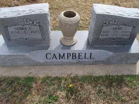 CAMPBELL, ARBY - Montgomery County, Kansas | ARBY CAMPBELL - Kansas Gravestone Photos