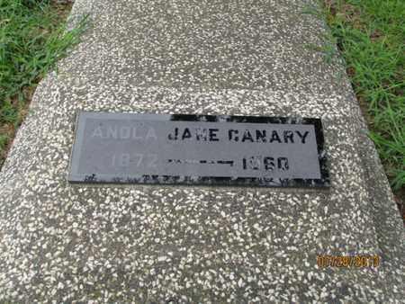 CANARY, ANOLA JANE - Montgomery County, Kansas   ANOLA JANE CANARY - Kansas Gravestone Photos