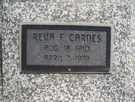 CARNES, REVA F. - Montgomery County, Kansas   REVA F. CARNES - Kansas Gravestone Photos