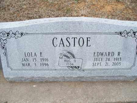CASTOE, EDWARD R. - Montgomery County, Kansas | EDWARD R. CASTOE - Kansas Gravestone Photos