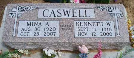 CASWELL, MINA AUGUSTA. - Montgomery County, Kansas | MINA AUGUSTA. CASWELL - Kansas Gravestone Photos