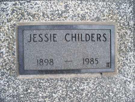 CHILDERS, JESSIE - Montgomery County, Kansas | JESSIE CHILDERS - Kansas Gravestone Photos