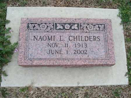 CHILDERS, NAOMI L - Montgomery County, Kansas   NAOMI L CHILDERS - Kansas Gravestone Photos