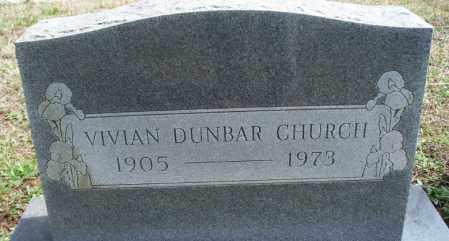 DUNBAR CHURCH, VIVIAN - Montgomery County, Kansas   VIVIAN DUNBAR CHURCH - Kansas Gravestone Photos