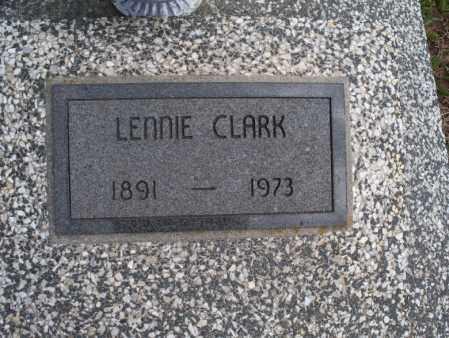 CLARK, LENNIE - Montgomery County, Kansas | LENNIE CLARK - Kansas Gravestone Photos